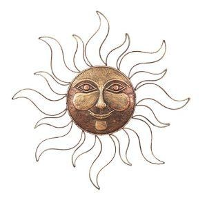 Outdoor tree face decorations oversized rising sun celestial indoor garden wall plaque art for me to make pinterest gardens also rh