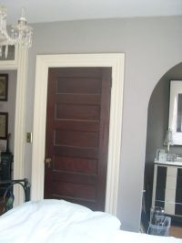 Love the white trim with dark stained doors.I want to ...