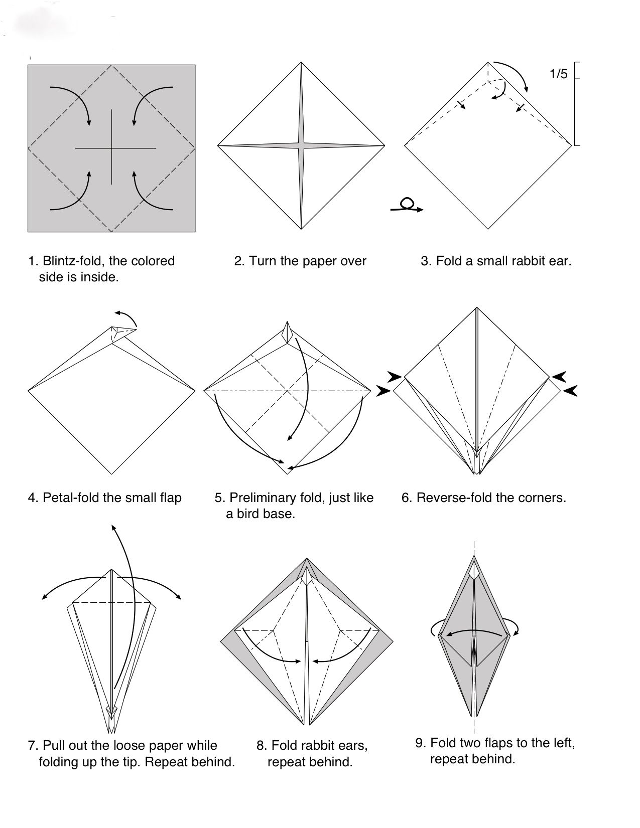 Tuto Origami Dragon Facile