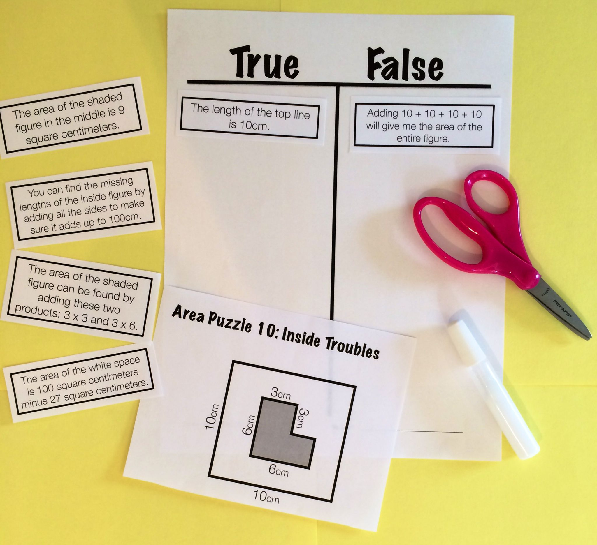 Reasoning Puzzles Area Activities To Engage In Math Talk Gr 3 4