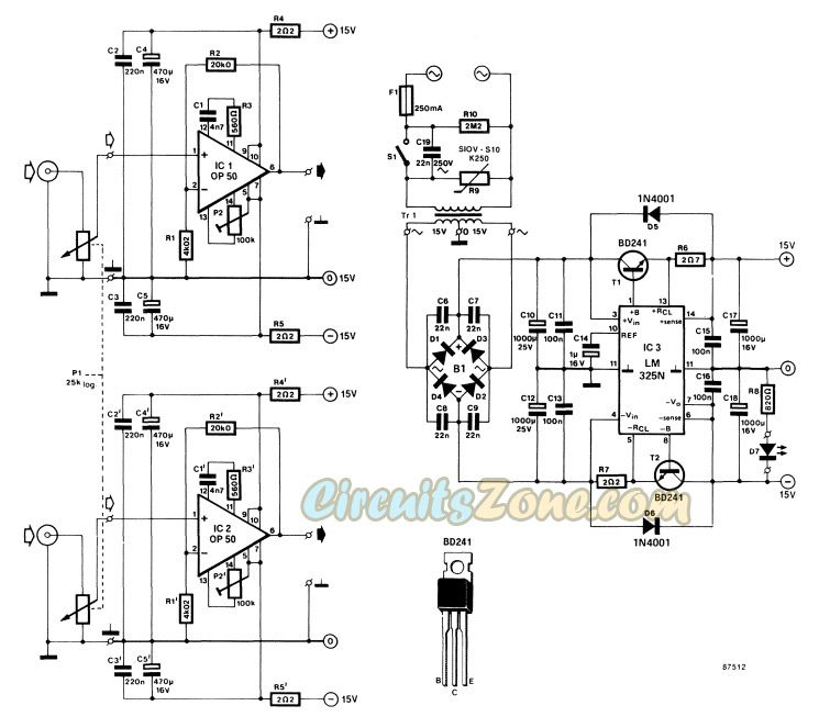 Headphone Amplifier Circuit Based IC Op-50 » Circuits Zone