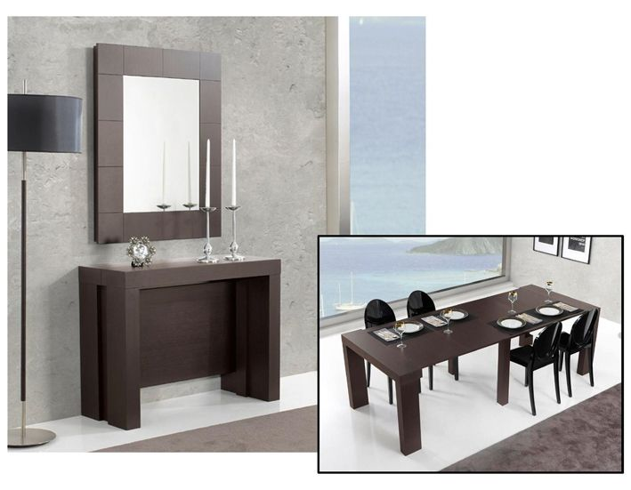 Consola con espejo convertible en mesa de comedor  Muebles Auxiliares  Pinterest  Mesas and Convertible