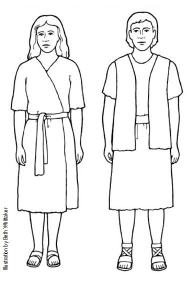 Sunbeam Printables: Adam and Eve Puppets for Lesson 14