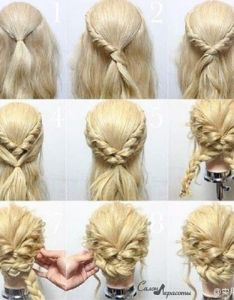 quick and easy updo for prom night or any other occasion if you wanna give  new look to your hair then try some these hairstyles also locker geflochtene hochzeitsfrisur  pinteres rh pinterest