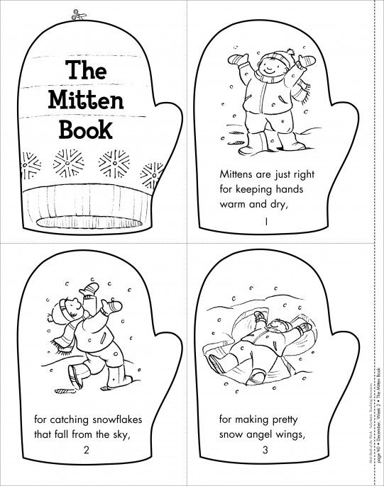 Mitten activities: The Mitten Book: Mini-Book of the Week