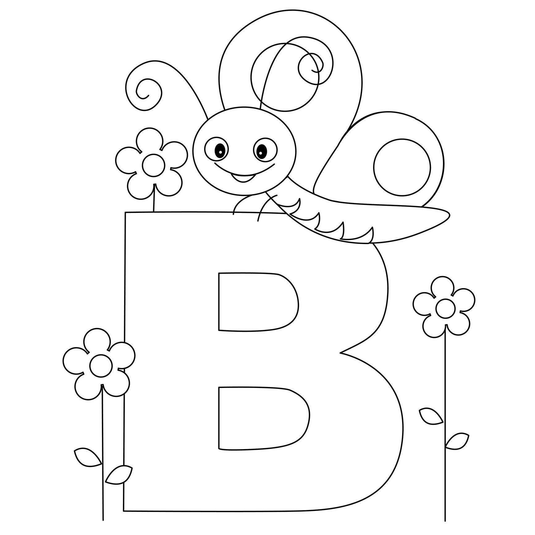 Animal Alphabet Letter B Is For Butterfly Here S A Simple