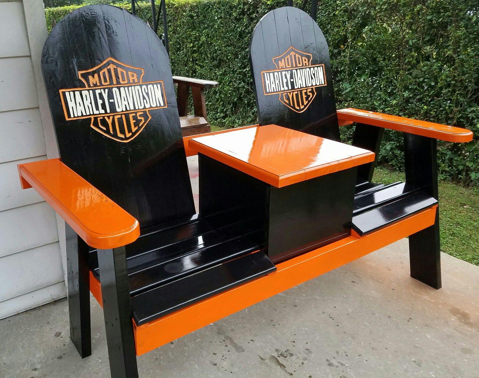 Harley Davidson Chairs Harley Bench With A Cooler Harley Davidson Pinterest