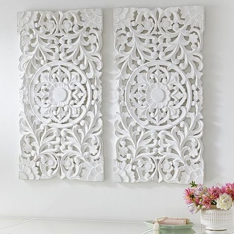 Lennon  maisy ornate wood carved wall art set of pbteen also wish rh pinterest