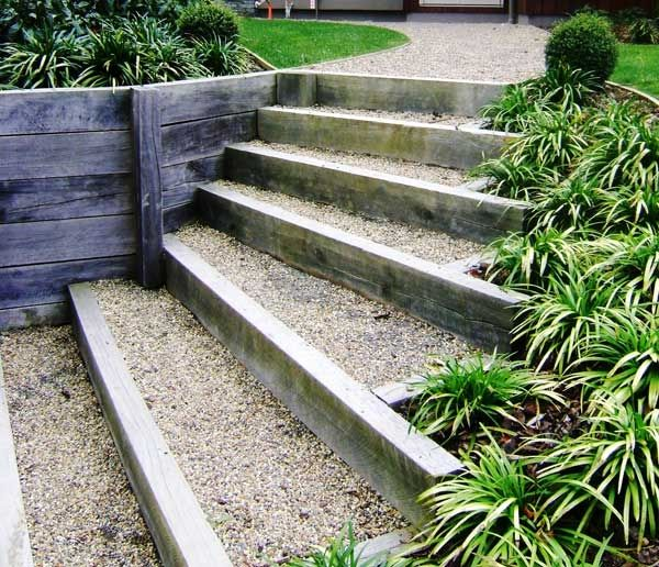Steps Created From Fanning Macrocarpa Sleepers Are Amongst The