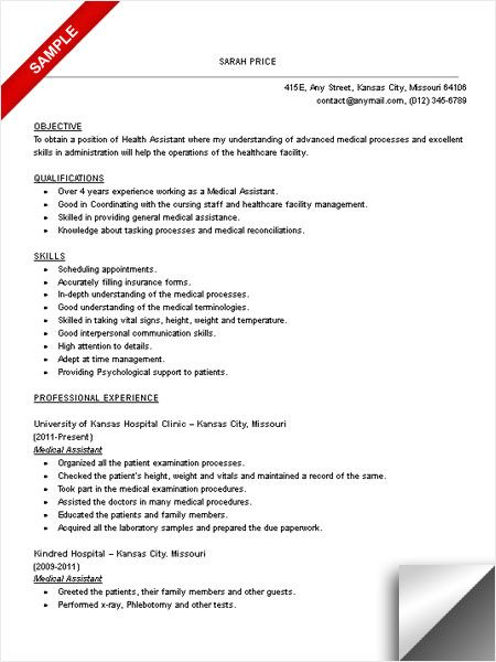 Medical Assistant Resume Objective Examples  Examples Of Resumes
