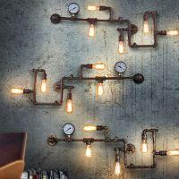 Industrial Steampunk Wall Lamp Retro Wall Light Rustic ...