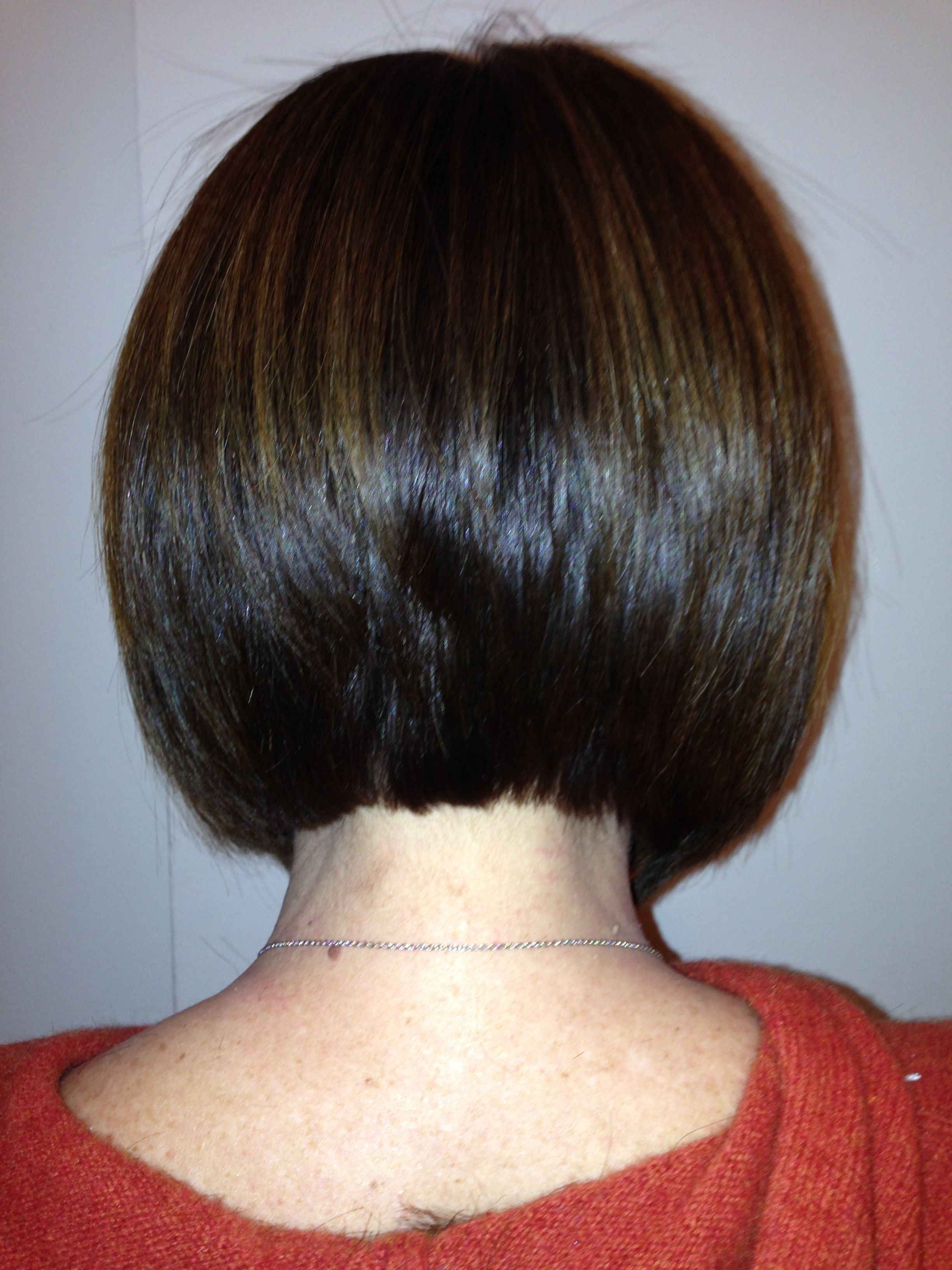 Back of GK treated classic textured bob