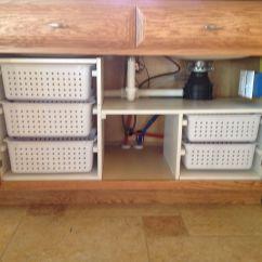Under Kitchen Sink Storage Small Outdoor Organization My Husband Built For