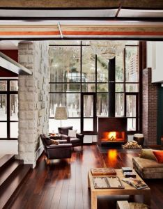 Comfortable home interior for the winter villa brilliant ruben dishdishyan house decor living room idea with wooden floor and fireplace design also pin by lexy enck on pinterest rooms rh