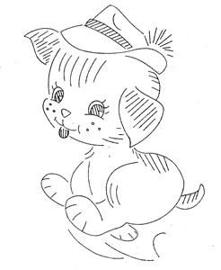 Design 7090 Animals for Quilt Blocks for Baby a 1960s hand