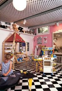 Fabric Ceiling on Pinterest | Unfinished Basement ...