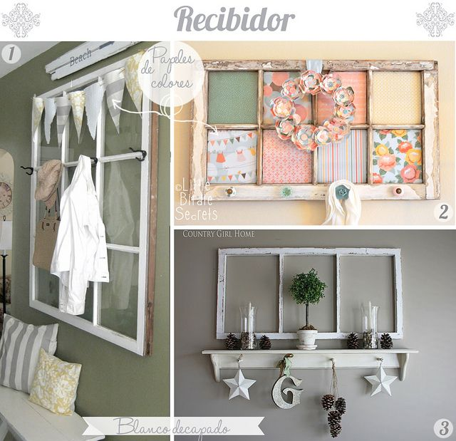 COOL upcycle ideas for old windows :)
