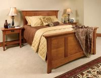 Mission style bedroom set. This is solid and elegant ...