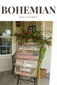 Bohemian Baby Shower - Welcome Sign | Baby Showers ...