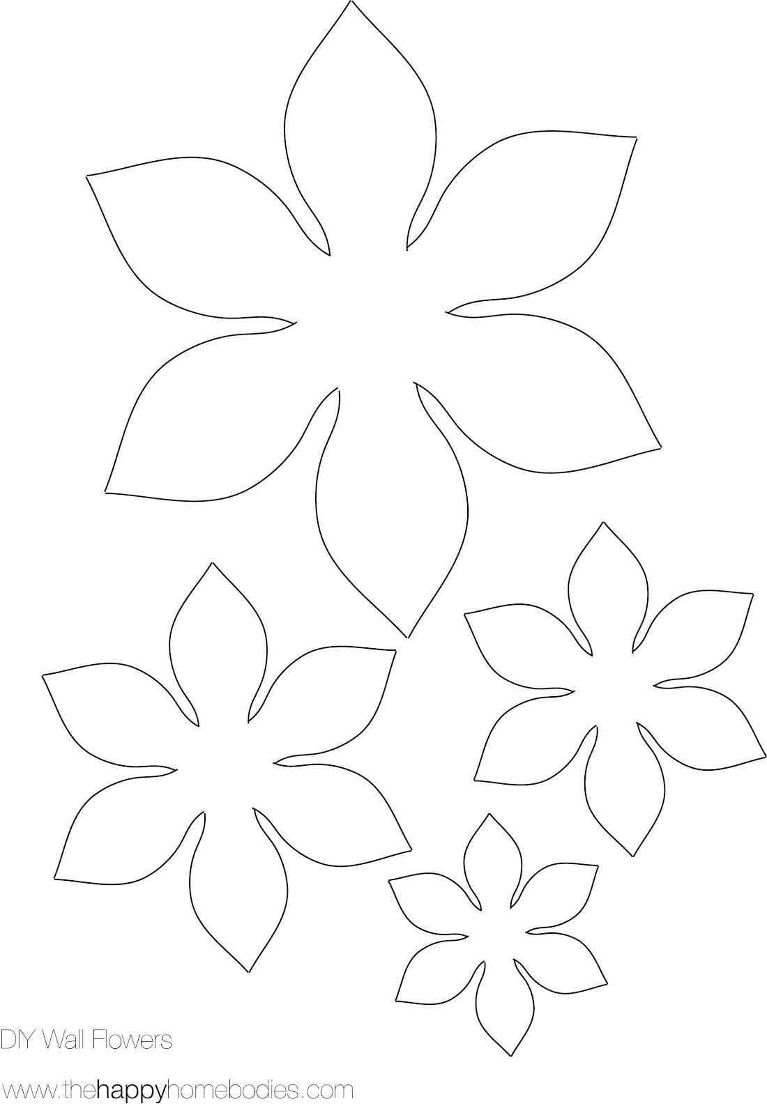Flower Template on Pinterest
