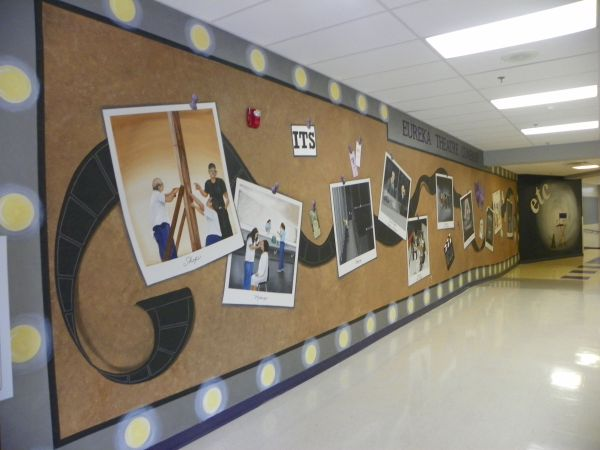Finished Theatre Mural Eureka High School Artwork