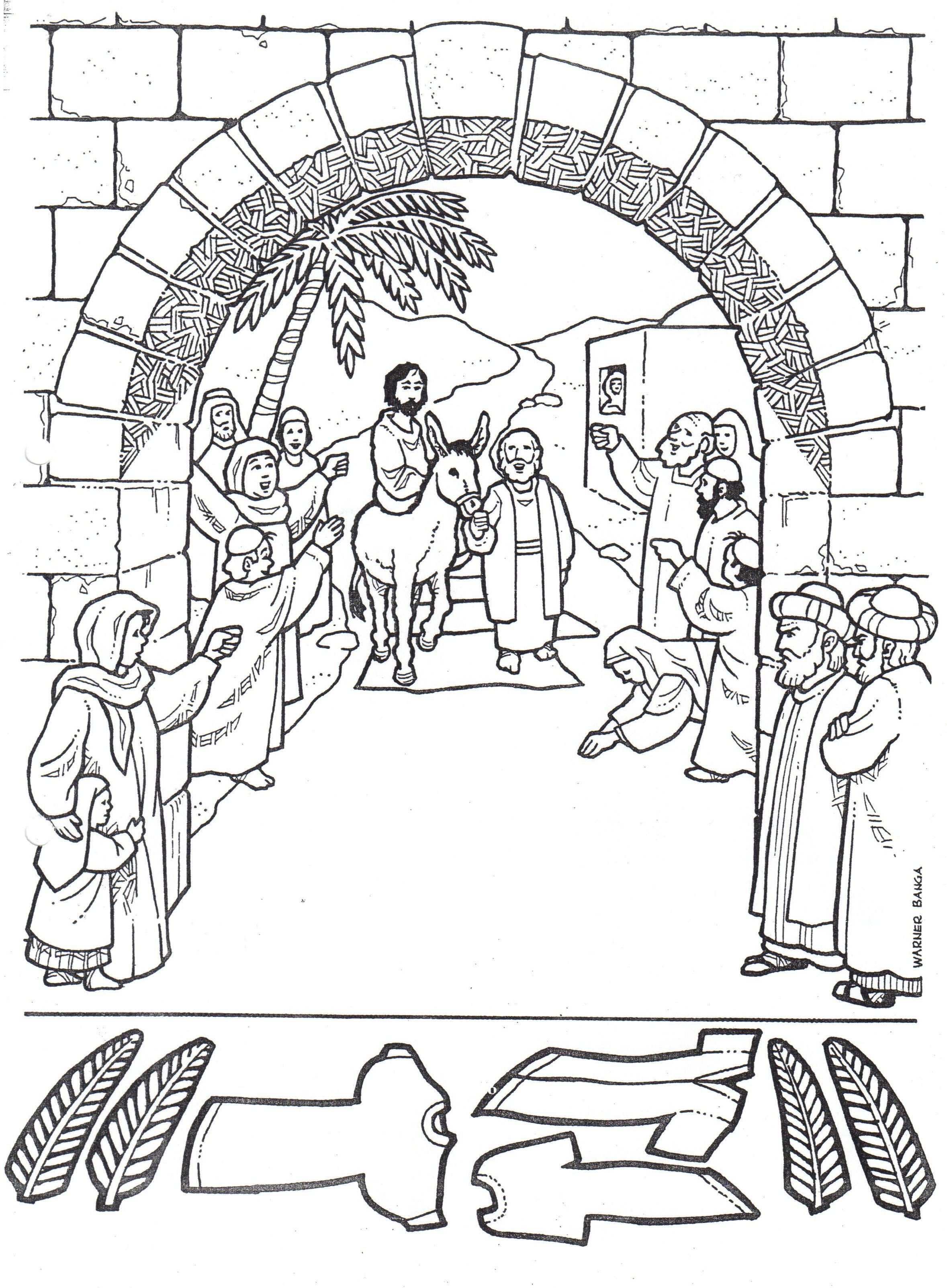 15 Jesus Heals A Crippled Woman On the Sabbath Coloring
