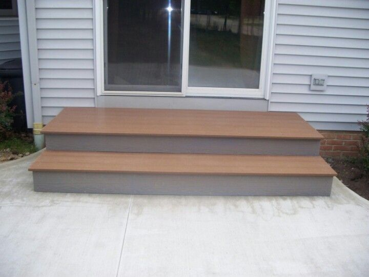 Patio Step Idea Like The Larger First Step Out The Door Patio