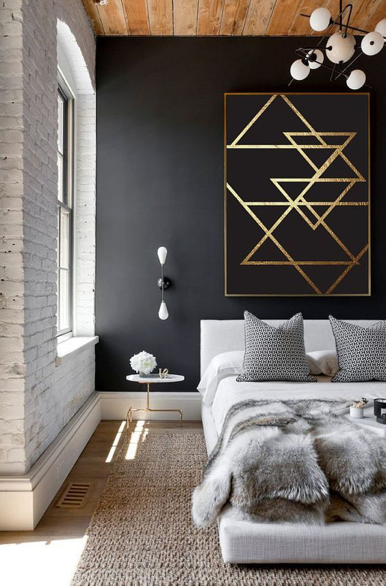 Style Guide Black And Gold Bedroom Ideas Bed