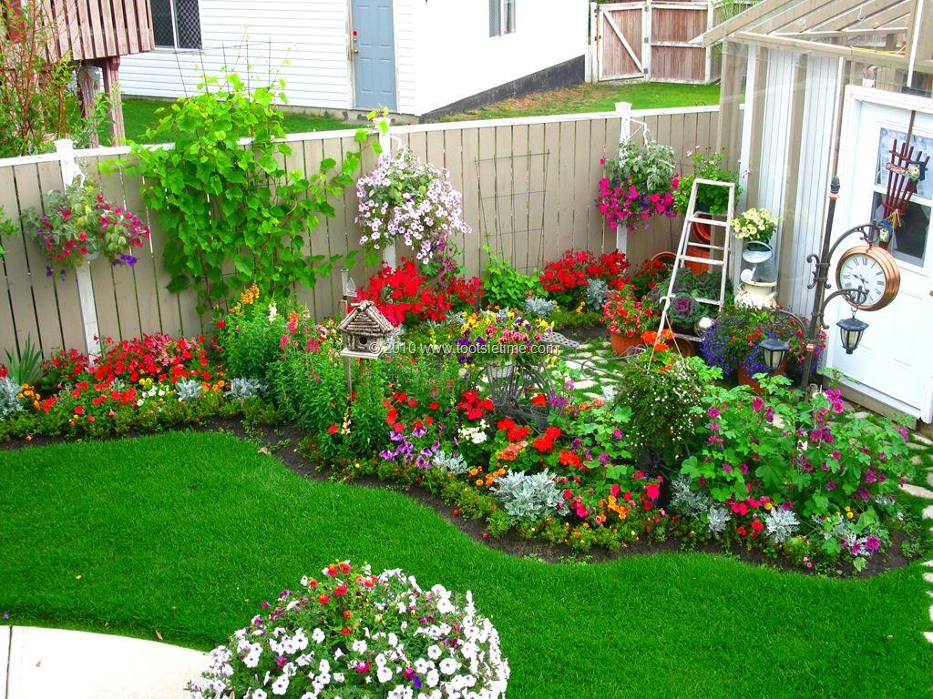 From Tootsie Time I Love The Backyard Flower Garden Red Garden