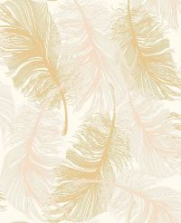Feather Gold Coloroll glitter effect Code M0926 11 ...