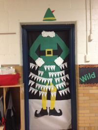 Elf themed Christmas Door Decorations for school contest ...
