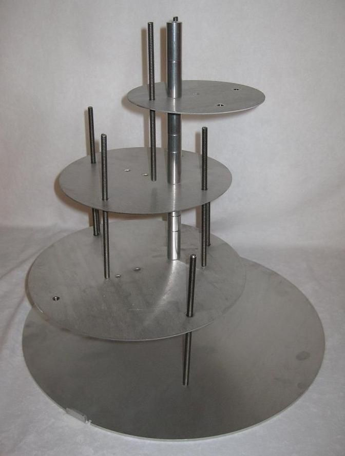 4 Tier Spiral Cake Stand Cake Stackers Mals Wedding
