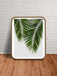 Palm Leaves Palm Print Wall Art Tropical Decor by ...