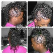 fishtail braids curly mohawk