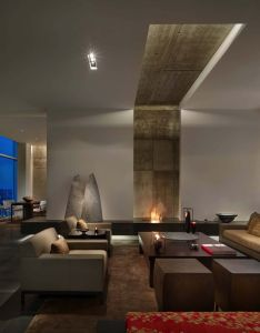Minimalist penthouse in philadelphia designed as gallery to showcase art also rh pinterest