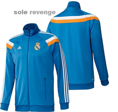 new adidas real madrid anthem soccer track blue football jacket top shirt ebay