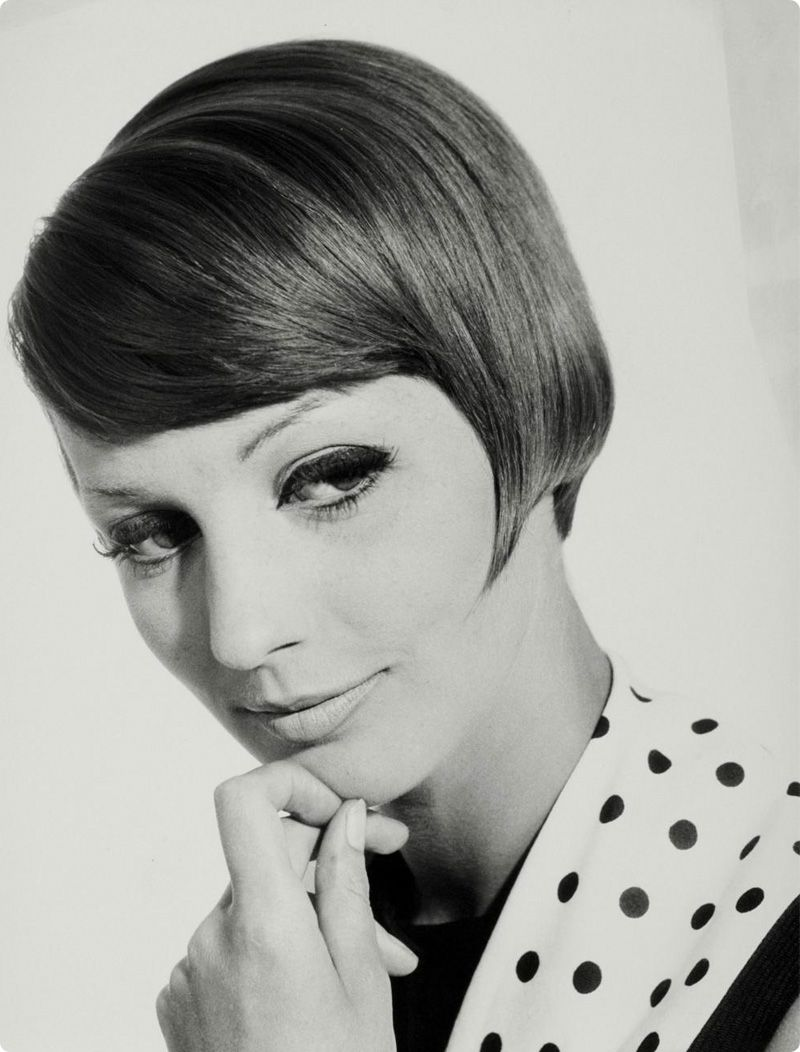 1960s Slanted Bob Hairstyle Photo By Walter Blum Hair