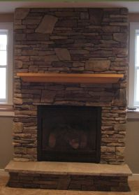 Gas Fireplace with Cultured Stone | house decor ...