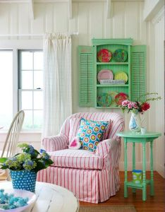 Happy colorful interiors in the kid   playhouse for love of decor and interior design also gingham slip covered chair pinterest armchairs rh