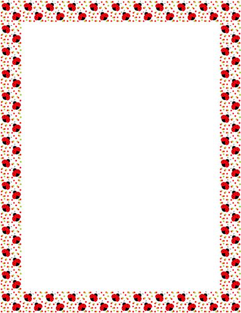 printable ladybug border. free