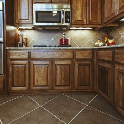 Kitchen Floor Cabinets Wall Mount Sink Flooring Ideas To Match Oak