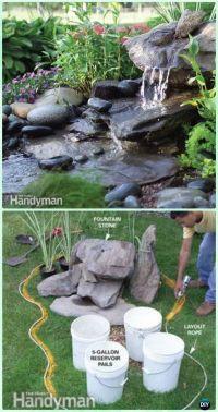 DIY Garden Fountain Landscaping Ideas & Projects | Diy ...