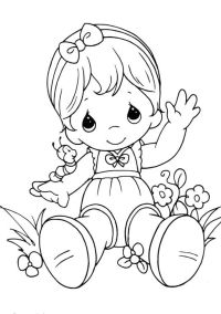 baby girl coloring pages | Coloring Pages
