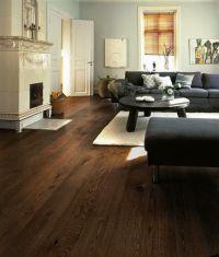 Living Room Home Decor Ideas Dark Wood Floor. I like this ...