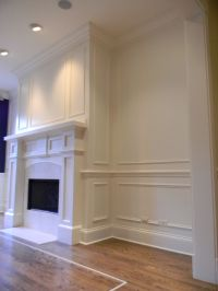 Trim Overlay Wainscoting and Wall Frames idea for living