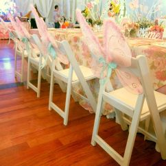 Party Folding Chairs Steelcase Office Chair Reserv 39s White At A Fairy Garden Themed