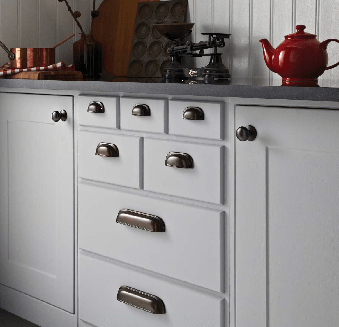 country kitchen door knobs blue color cabinets timeless classic cupboard handles in rubbed