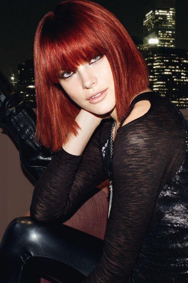 111 Trendfrisuren Der Profis 2012 Pony Bilder Rotes Haar Und Bob