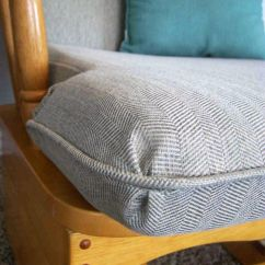 How To Recover Glider Rocking Chair Cushions Recliner Garden Chairs Argos Made By Me Shared With You Recovered Rocker
