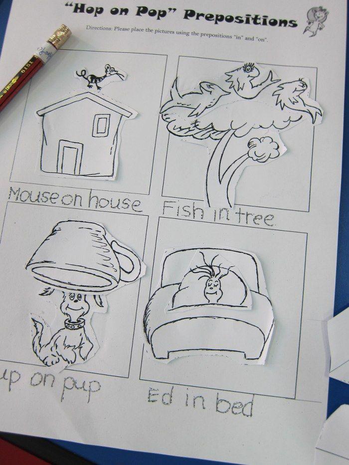 Dr Seuss Preschool Rhyming Worksheets